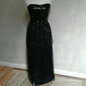 Halloween Witch Dress Black Maxi  Multi Sequins